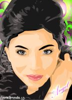 Angel Locsin-Vector Art by DeVianTLei