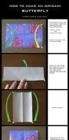 Tutorial: Origami Butterfly by DarkUmah