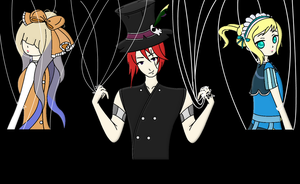 Fan Art: The Hatter and his Dolls by Balance-Song