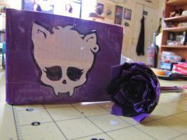 Monster high clawdeen duct tape wallet with pen by Fairygirl1031