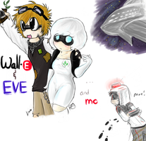 Collab: Wall-E and EVE..and Mo by NiyomixChan