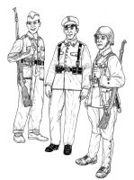 Spanish Republican Fighters by linseed