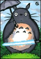PSC: Totoro with lightsaber by grantgoboom