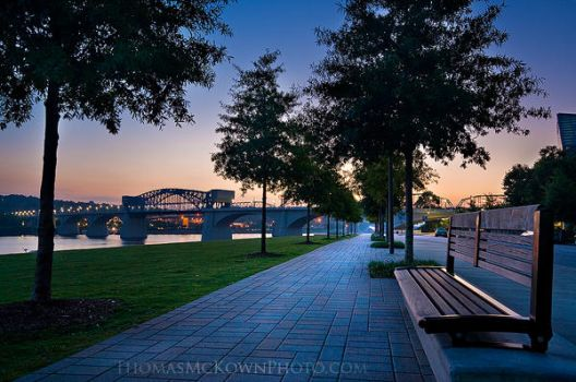 Downtown Chattanooga Sunrise by ThomasMcKownPhoto