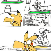 Pikachu Vs Thug by Pikachu84