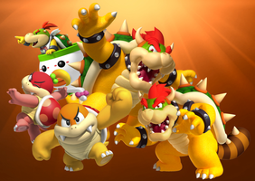 Bowser and his high-ranked members. by Legend-tony980