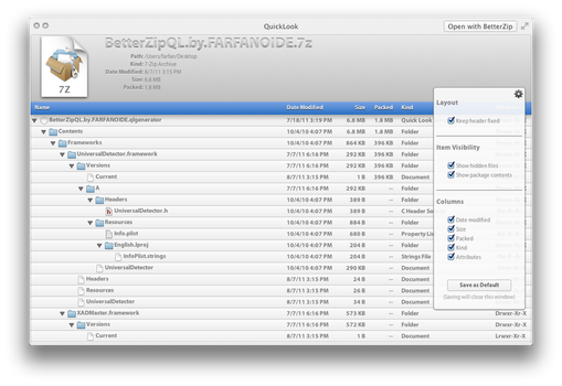 QuickLook for Mac OS X Lion by farfanoide