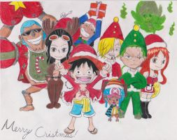 Merry Christmas Strawhats by Artman179
