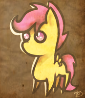 paper chibi scootaloo by mapony240