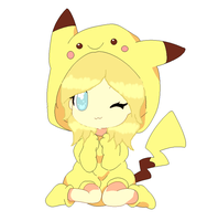 Me in a pikachu  costume! by Meloetta29