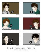 Exo-K Postcard Preview by ILICarrieDoll