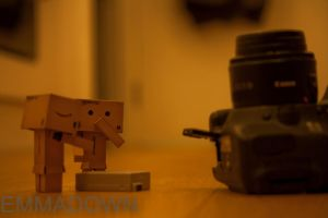 ' OH NO! We dropped the battery!' - Danbo Series by oEmmanuele