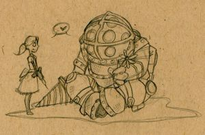 Me Heart BioShock by GarbageLicker