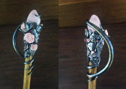 Rose Vine Wand by KaijuClayCreations