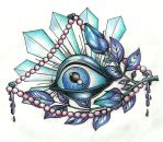 eyeball tattoo design by mijazaszka