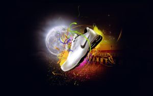 Abstract feat Nike Shox by kgenextreme