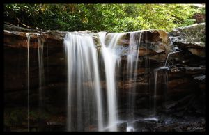Twin Falls State Park Falls by N12X93R