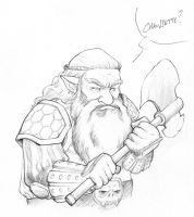 Warrior Dwarf with his battle axe by Elaume