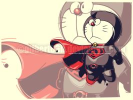 doraemon superman redson by gilbert86II
