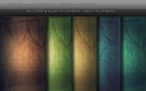 5 CrinklePaper Textures by Natsum-i