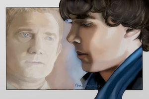 John and Sherlock by BlueZest