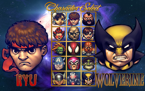 BUUF Street Fighter VS Marvel Heroes by iAmWavyCrockett
