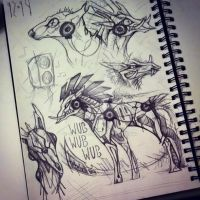 Sketchbook page XII-XIV I by Skrayle