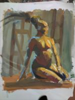 oil painting, sep. 9, 2010 by azimuth-oakes