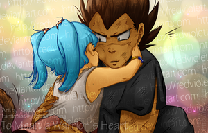 DBZ - Fanfiction Cover - To Melt a Warriors Heart by RedViolett