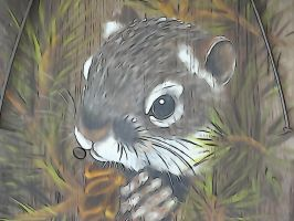 Squirrel Art by Ox3ArtStock