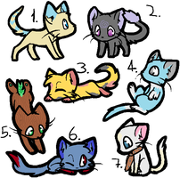 Adoptssss (kitties) by MoonehDraws
