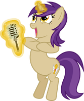 Golden Notes - My Little Karaoke OC by PsychicWalnut