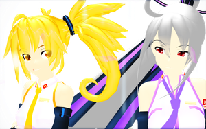 MMD Haku and Neru by RedRockDiva1