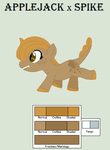 Applejack x Spike filly (CLOSED|AUCTION) by OREO-NlNJA