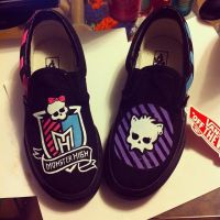 Monster High custom shoes by MonteyRoo