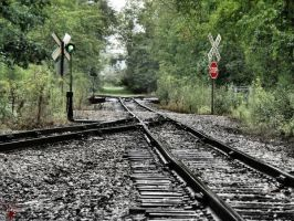 Antique Railroad Track by S-H-Photography