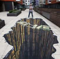 3D illusions: Ropey Bridge - London, England by Man-Of-World