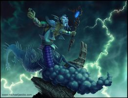 Blue Shenlong Sorcerer by MichaelJaecks