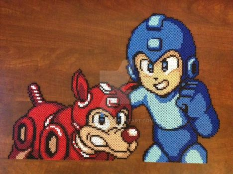 Rush and Megaman by DOAruss