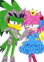 Amy and Jet:my princess?_color by aprict