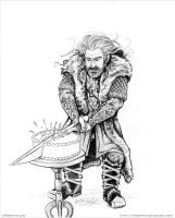 Thorin Oakenshield Cutting Cake by cfgriffith