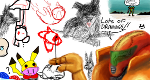 Samus in iscribble :d by Xnessax