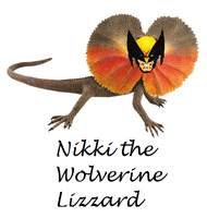 Nikki the Wolverine Lizzard by mellzmew