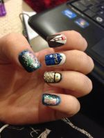 Doctor Who Nails by megs2606