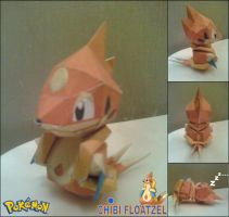 Chibi Floatzel Papercraft Finished by rubenimus21