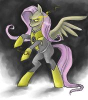 Yellow Lantern Fluttershy by Delta-Hexagon