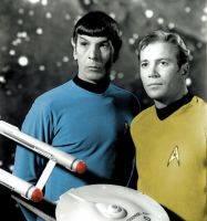 Captain Kirk and Mr. Spock by HappyRussia