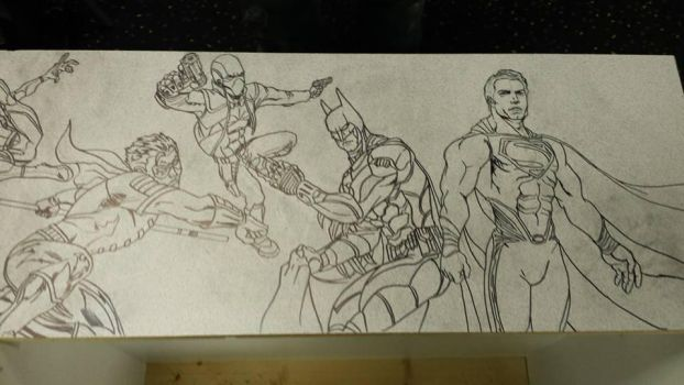 Crater City Comix Tombs WIP Bats and Supes by Wolfgang-Blaine