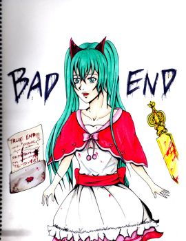 Fanart Bad End Night - Miku by Escoatic