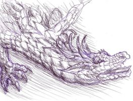 Rar. Ballpoint pen dragon FTW by elosc